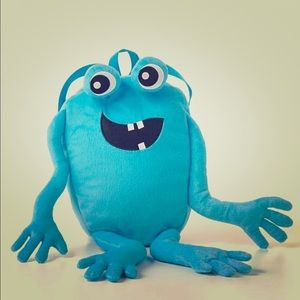 Other - Blue Fuzzy Monster Backpack